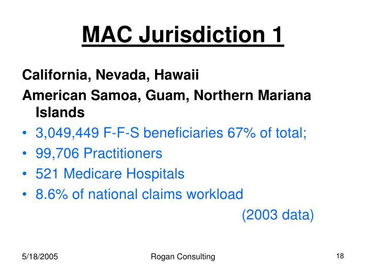 MAC Jurisdiction 1