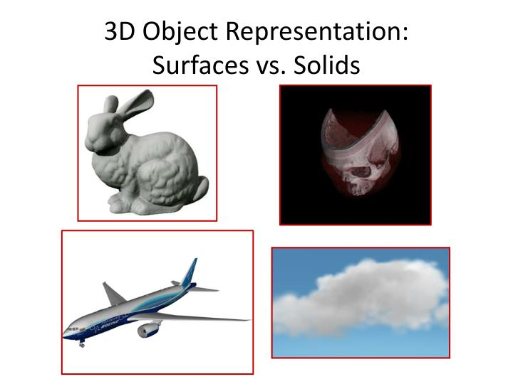 3d object representation surfaces vs solids