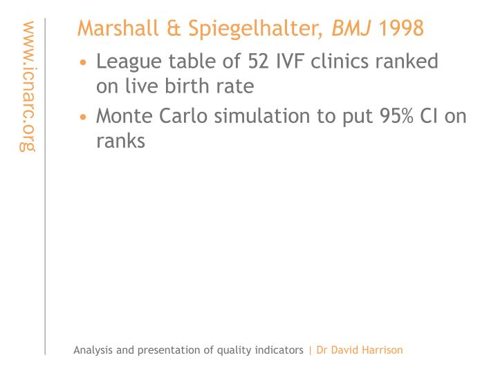 Marshall & Spiegelhalter,
