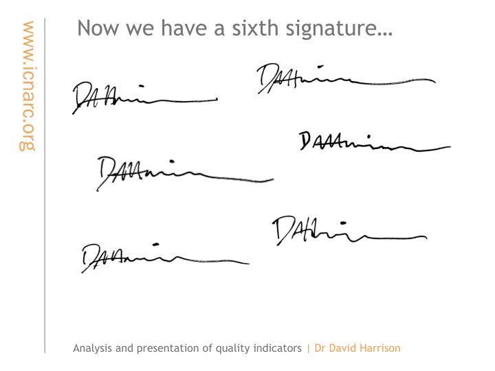 Now we have a sixth signature…
