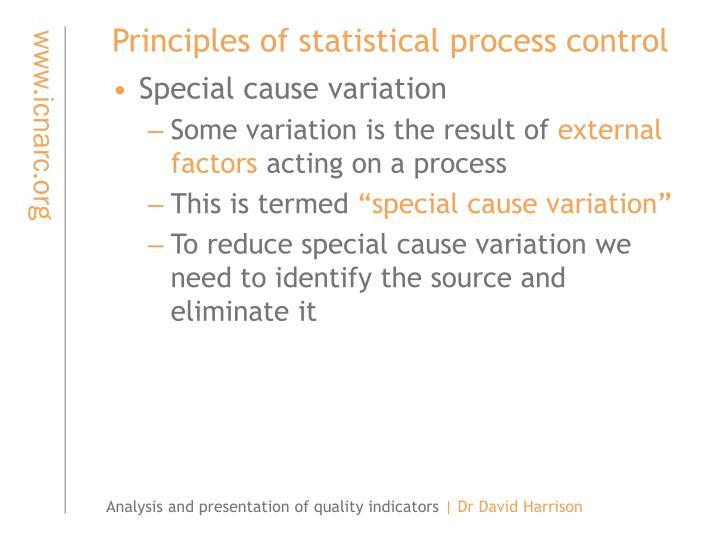Principles of statistical process control