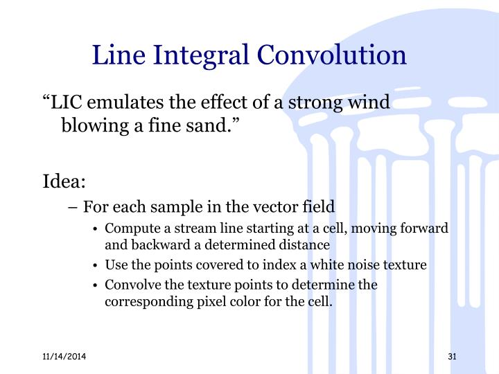 Line Integral Convolution