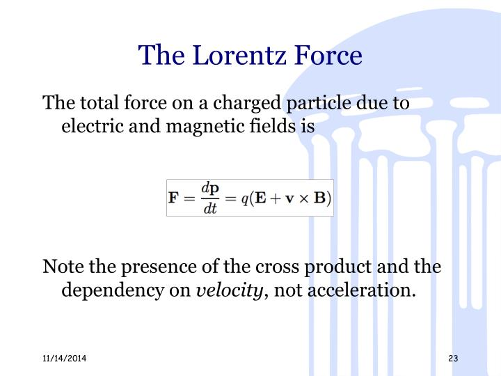 The Lorentz Force
