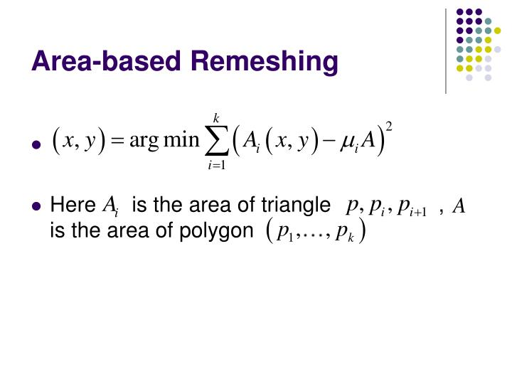 Area-based Remeshing