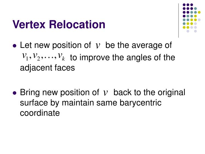 Vertex Relocation