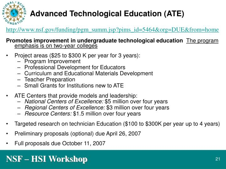 Advanced Technological Education (ATE)