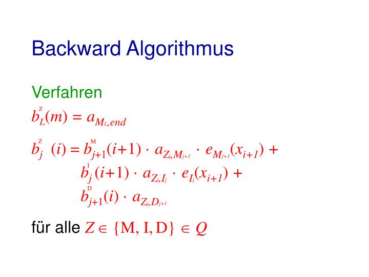 Backward Algorithmus