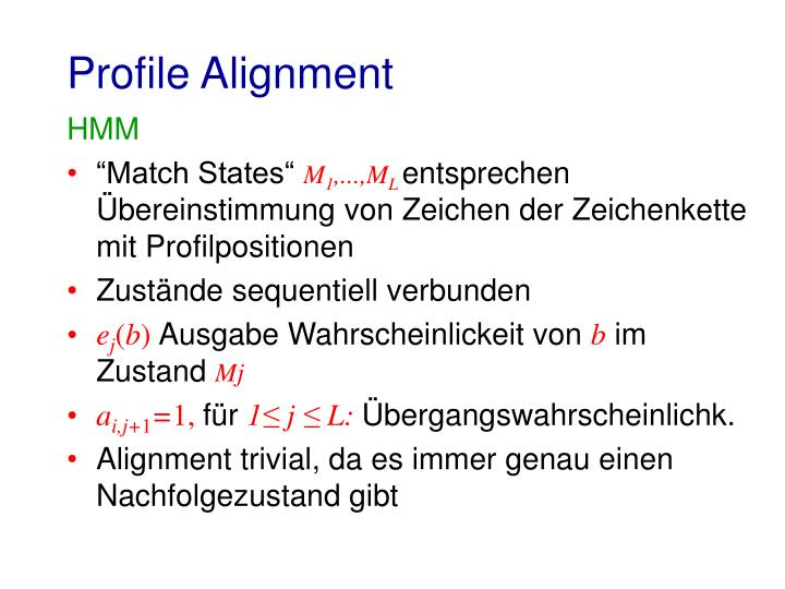 Profile Alignment