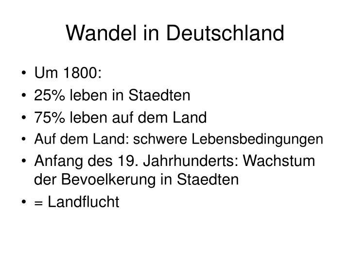Wandel in Deutschland