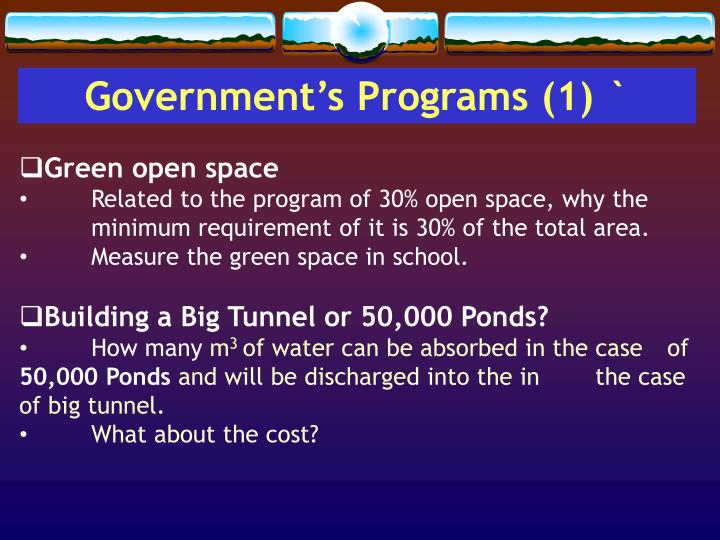 Government's Programs (1) `