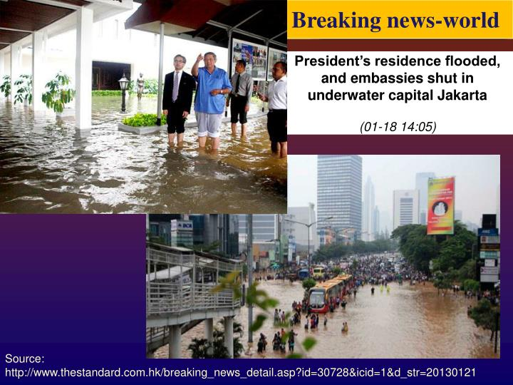 Breaking news-world