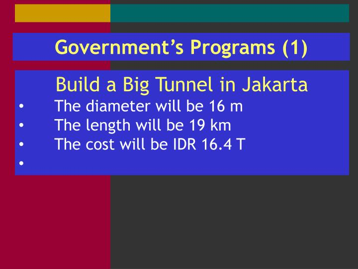Government's Programs (1)