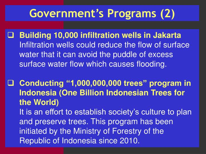 Government's Programs (2)