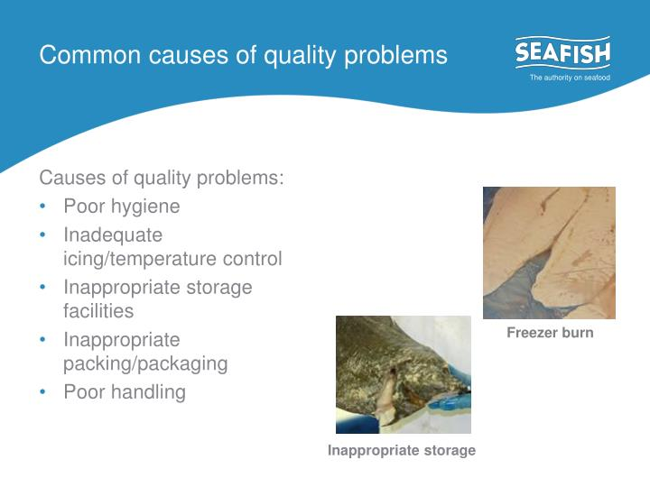 Common causes of quality problems