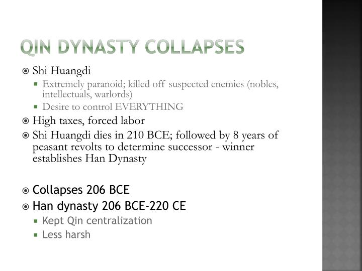 Qin Dynasty Collapses
