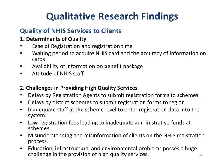 Qualitative Research Findings