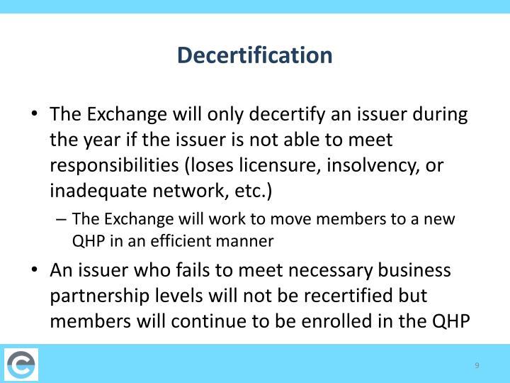 Decertification