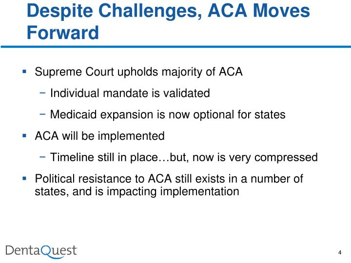 Despite Challenges, ACA Moves Forward