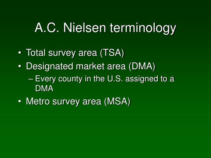 A.C. Nielsen terminology