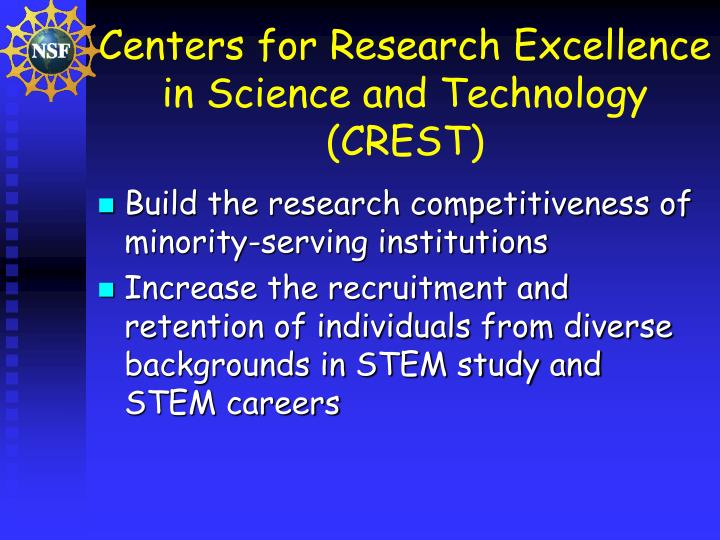 Centers for Research Excellence in Science and Technology (CREST)