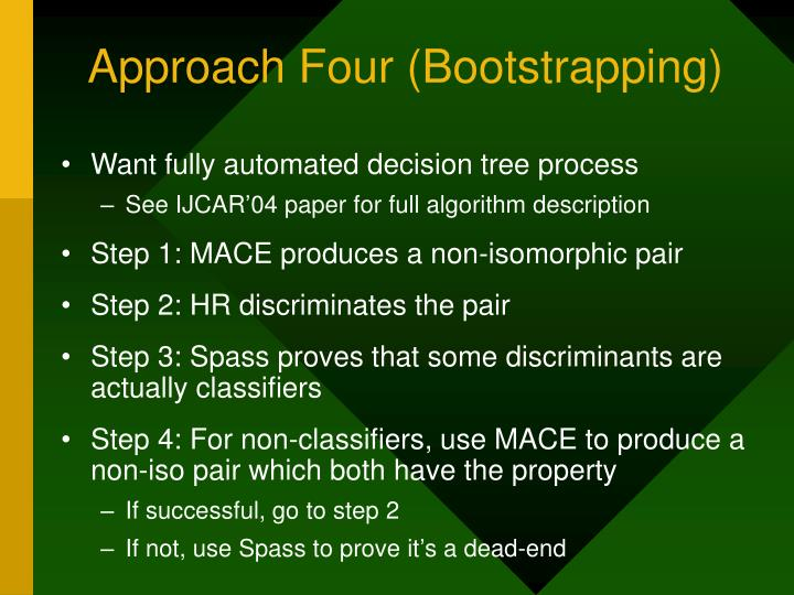 Approach Four (Bootstrapping)