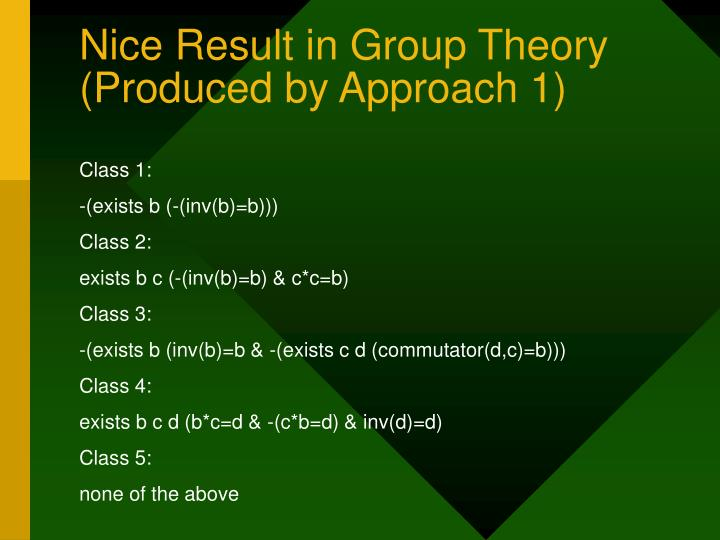 Nice Result in Group Theory