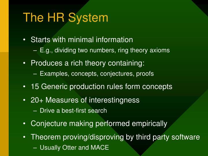 The HR System