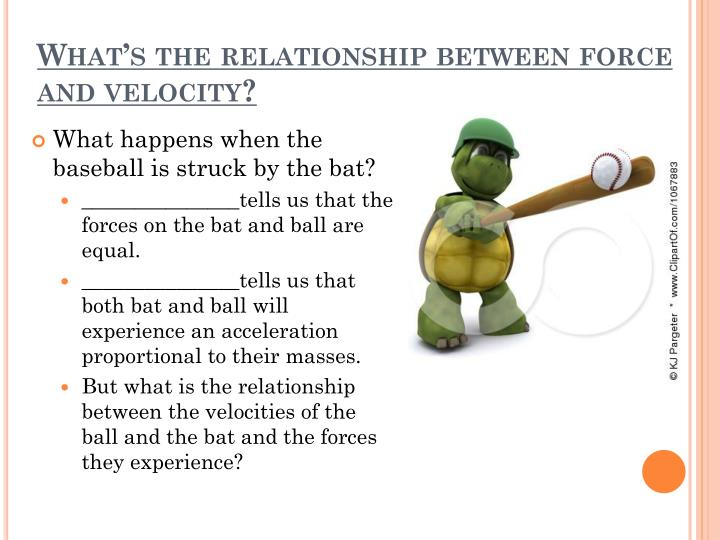 What's the relationship between force and velocity?