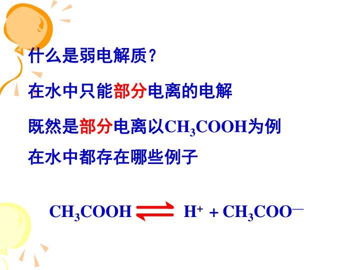 什么是弱电解质?