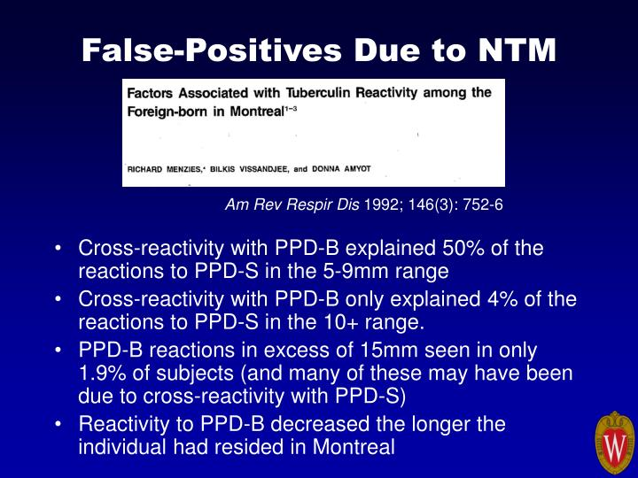 False-Positives Due to NTM