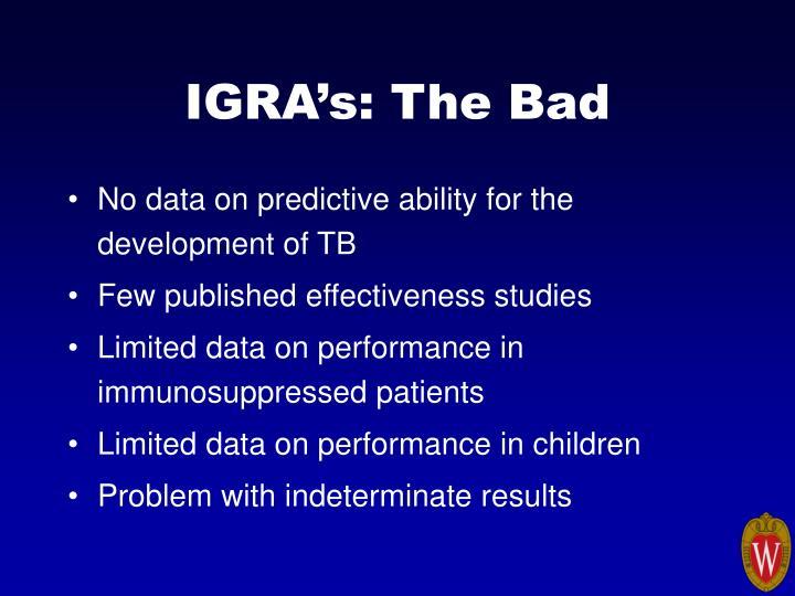 IGRA's: The Bad