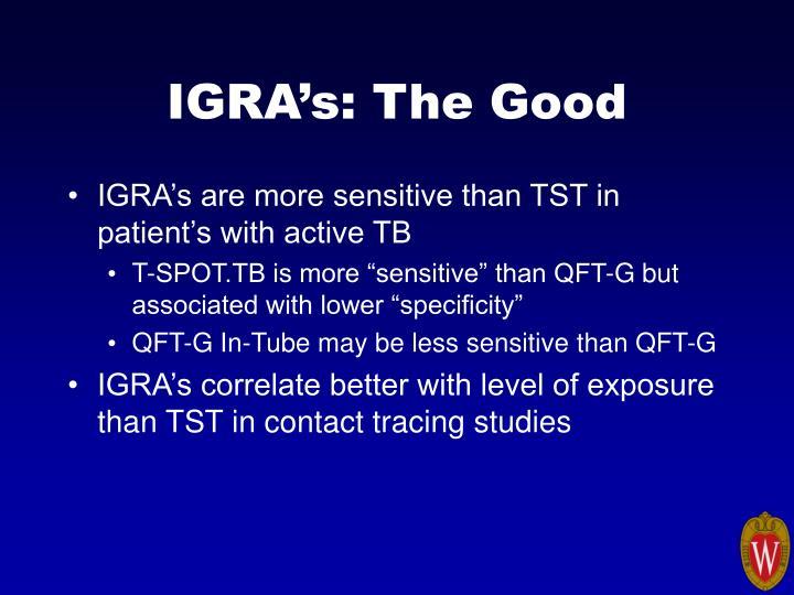IGRA's: The Good