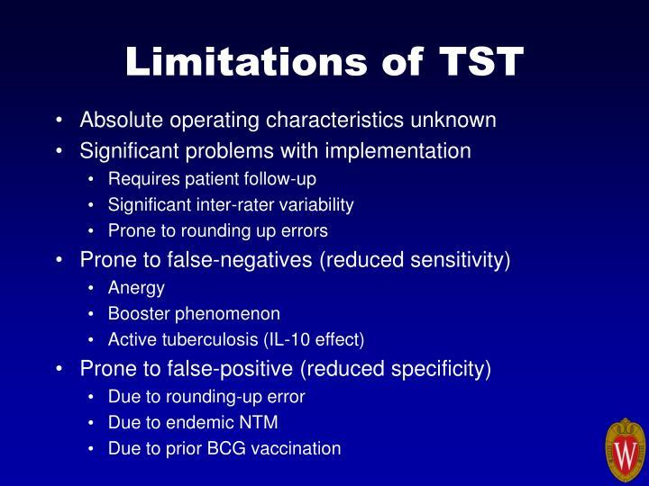 Limitations of TST