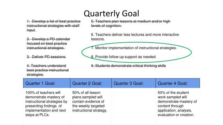 Quarterly Goal