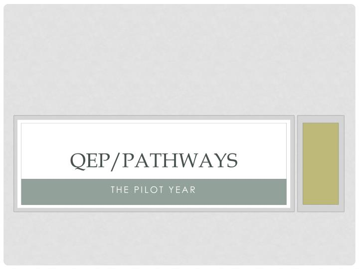 Qep pathways