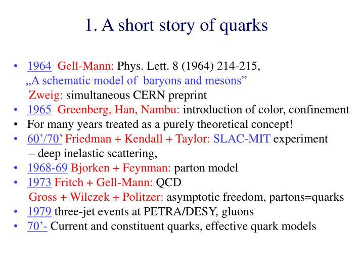 1. A short story of quarks