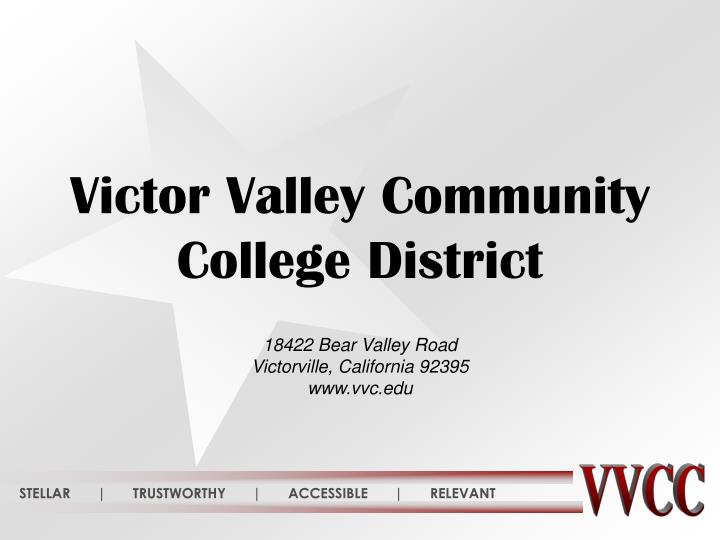 Victor Valley Community College District