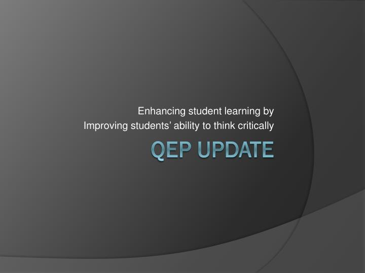 Enhancing student learning by