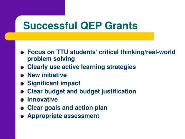 Successful QEP Grants