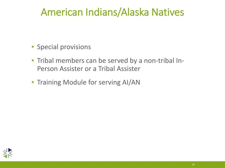 American Indians/Alaska Natives