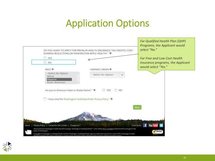 Application Options