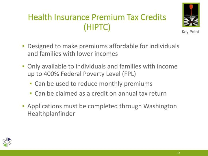 Health Insurance Premium Tax Credits (HIPTC)