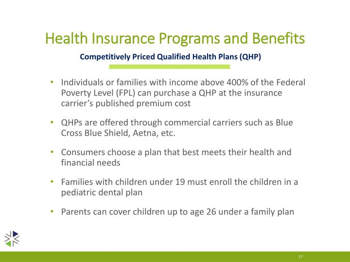 Health Insurance Programs and Benefits