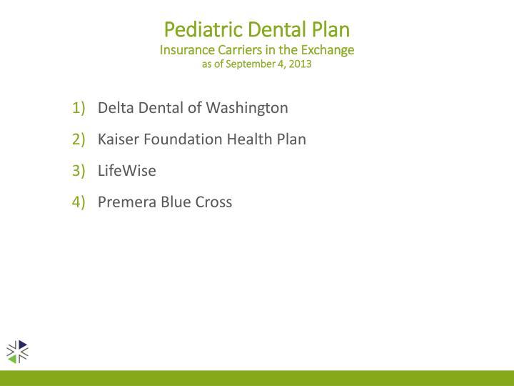 Pediatric Dental Plan