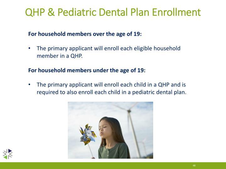 QHP & Pediatric Dental Plan Enrollment