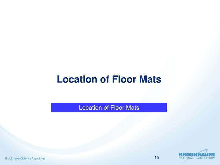 Location of Floor Mats