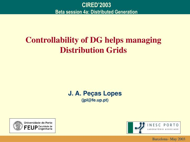 controllability of dg helps managing distribution grids