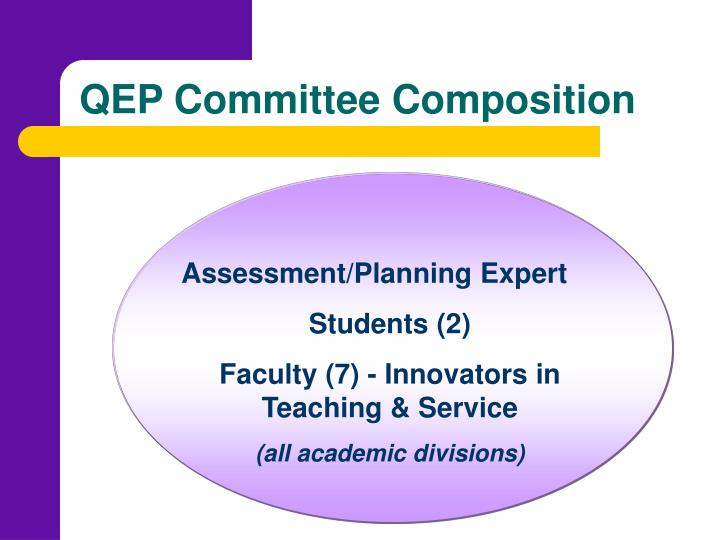QEP Committee Composition
