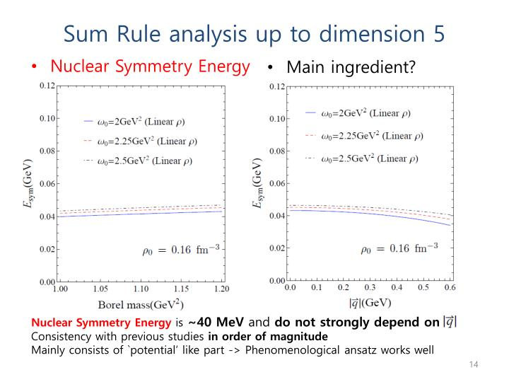 Sum Rule analysis up to dimension 5