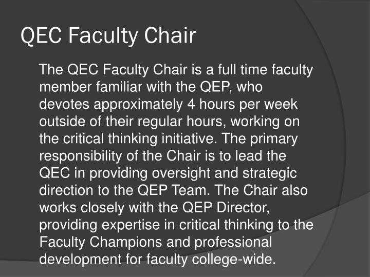QEC Faculty Chair